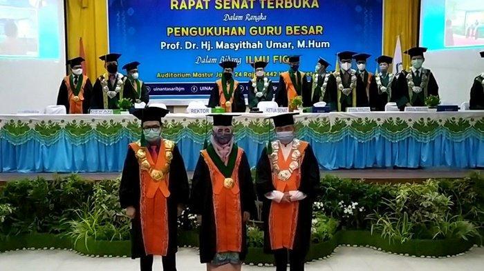 Rektor UIN Antasari Banjarmasin Kukuhkan Guru Besar Ilmu Fikih