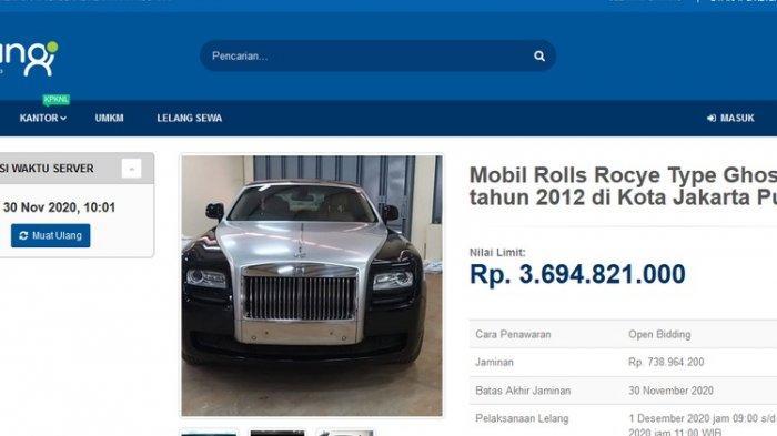 Pemerintah Lelang Mobil Rolls Rocye Mirip Punya Raffi Ahmad Rp 3,69 Miliar, Minat? Setor Uang Segini