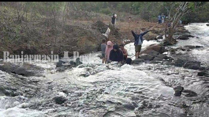 Mendaki di Air Terjun Janda Beranak Tiga Kabupaten Banjar, Pemandangan Makin Menakjubkan