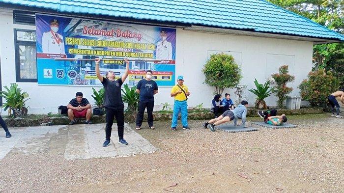 Pengurus PGSI Kabupaten HSS Pantau Persiapan Pegulat Jelang Porprov Kalsel 2022