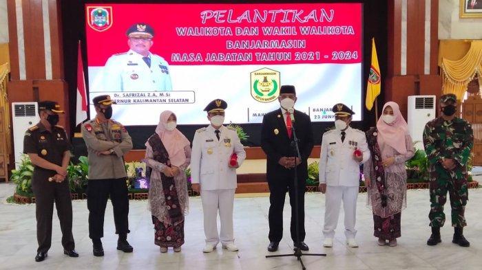 H Ibnu Sina-H Arifin Noor Resmi Menjabat Wali Kota-Wakil Wali Kota Banjarmasin 2021-2024