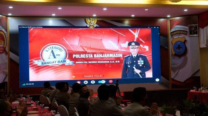 Polresta Banjarmasin Diganjar Penghargaan Penyelenggara Pelayanan Publik dari Kemenpan-RB