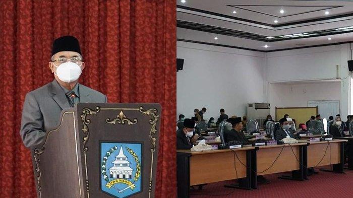 Bupati HSS Sampaikan Raperda Pertanggungjawaban Pelaksanaan APBD TA 2020