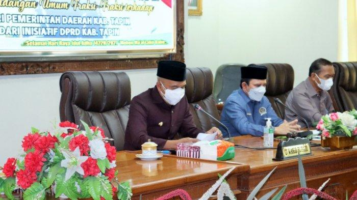 Paripurna Penyampaian Raperda, Lima Fraksi DPRD Setujui Usulan Pemerintah Kabupaten Tapin