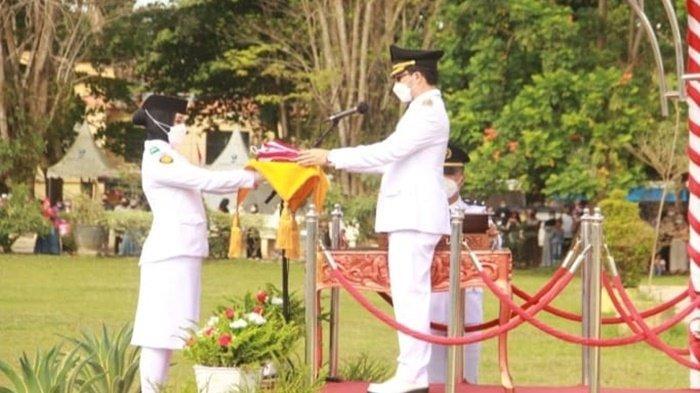Dipimpin Bupati HST, Peringatan Proklamasi Kemerdekaan RI ke-76 Dilaksanakan Secara Prokes
