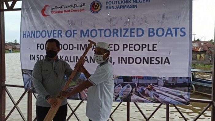 Bantu Perahu Bermotor Untuk Warga Banjarmasin, Poliban Kerjasama Dengan Uni Emirat Arab