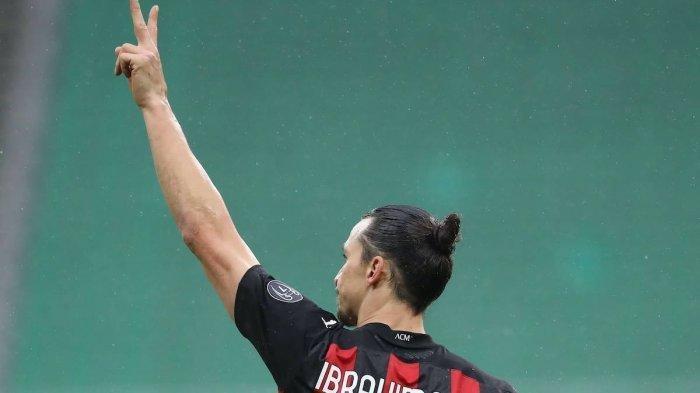 Penyerang AC Milan Zlatan Ibrahimovic