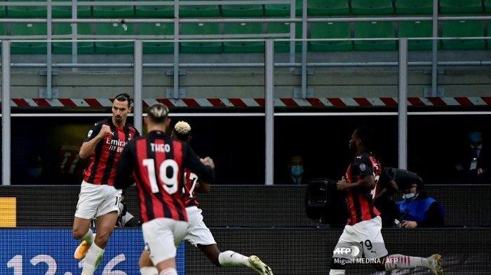 HASIL Inter Milan vs AC Milan Liga Italia, Dwigol Ibrahimovic Kunci Kemenangan Rossoneri
