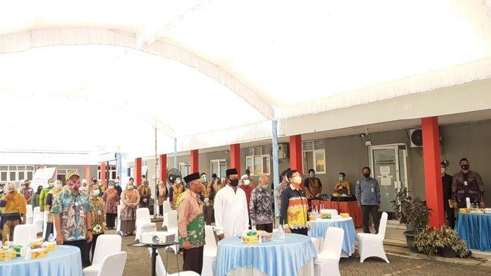 Suasana peresmian gedung baru, bernama Gedung Paman Birin, di kampus Stikes Borneo Lestari, Banjarbaru, Kamis (10/9/2020).