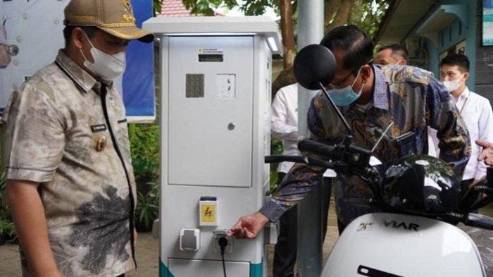 Resmikan 5 SPLU, PLN Dukung Banjarmasin Eco City Melalui Kendaraan Listrik