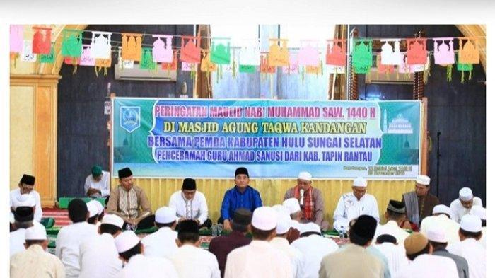 Peringatan maulid Nabi di Kabupaten HSS 2018 lalu.