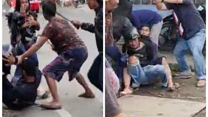 Obati Luka di Rumah Sakit, Lelaki yang Ngamuk di Jalan Nagasari Banjarmasin Diamankan Polisi