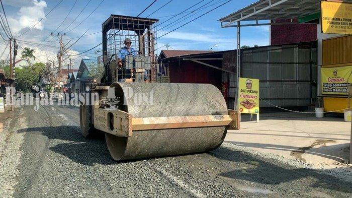Jalan Tembus Perumnas Banjarmasin Segera Diaspal, Tuntas Juni 2021