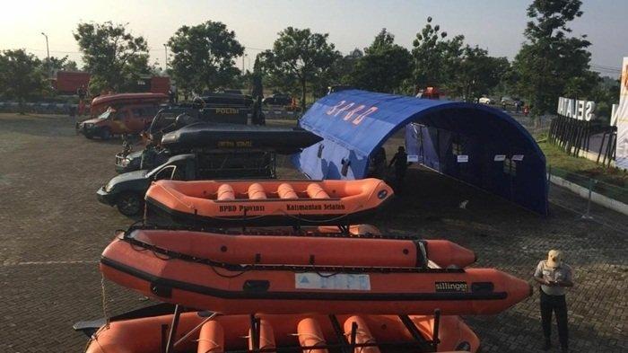 BPBD Kalsel Dirikan Tenda Posko untuk Tingkatkan Respons Bila Terjadi Bencana Banjir dan Longsor