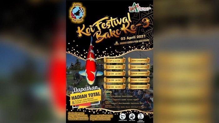 Banua Koi Club Gelar Festival Ikan Koi di Amanah Borneo Park, Catat Ini Tanggal Pelaksanaan