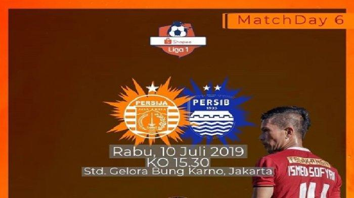 Live Indosiar! Prediksi & Live Streaming Persija Jakarta vs Persib Bandung Liga 1 2019 Jam 15.30 Wib