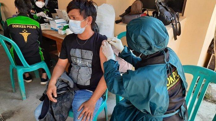 Bantu Pemerintah Genjot Vaksinasi Covid-19, Polda Kalsel Sudah Vaksinasi 5 Ribu Masyarakat di Kalsel
