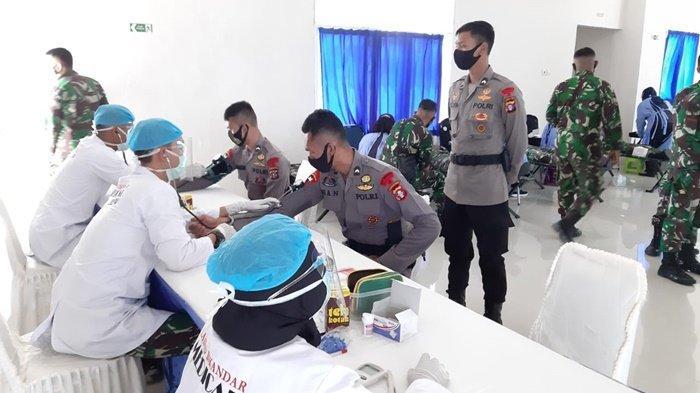 HUT TNI ke-75, Personel Brimob Polda Kalteng Turut Sumbang Darah