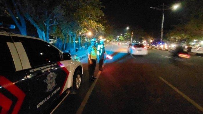 Siaga Hingga Dini Hari, Blue Light Patrol Dit Lantas Polda Kalsel Cegah Munculnya Aksi Balap Liar