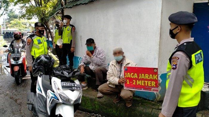 Ditsamapta Polda Kalsel Patroli Yustisi, Sasar Tiga Kelurahan Zona Kuning di Banjarmasin