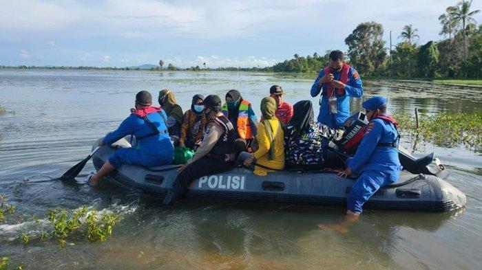 Bersama Stakeholder, Polres Tala Gerak Cepat Tangani Bencana Banjir