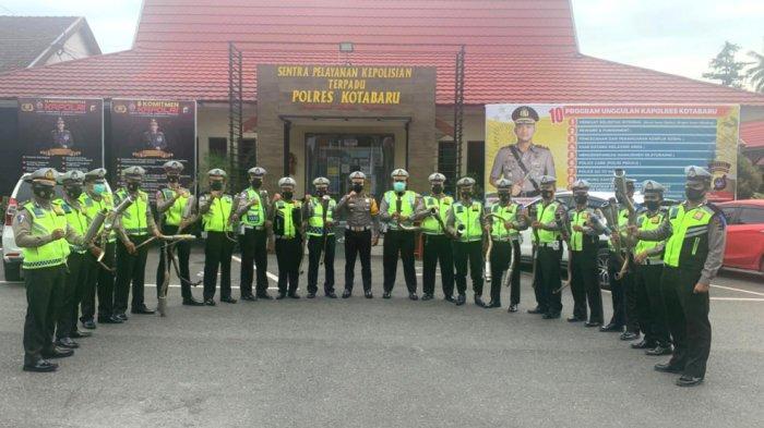 Polres Kotabaru Kenakan Denda Rp 250 Ribu bagi Pemakai Knalpot Bising yang Terjaring Petugas