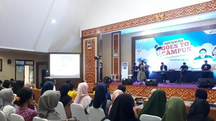 Jeka Idol Hadir di Pertamina Goes to Campus di Banjarmasin, Begini Keseruannya