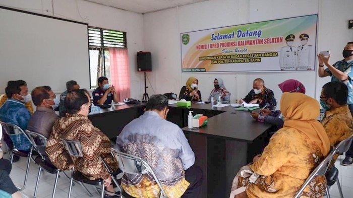 Kabupaten Tapin dan HSS Minim Politikus Perempuan, DPRD Kalsel Datangi Kesbangpol