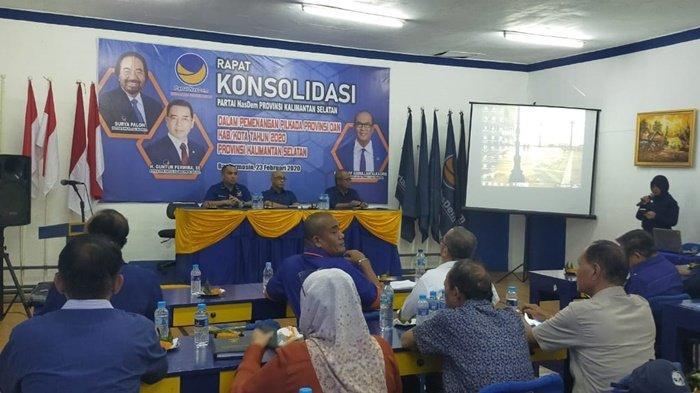 Partai Nasdem Kalimantan Selatan Gelar Rapat Konsolodasi Menangkan Pilkada 2020