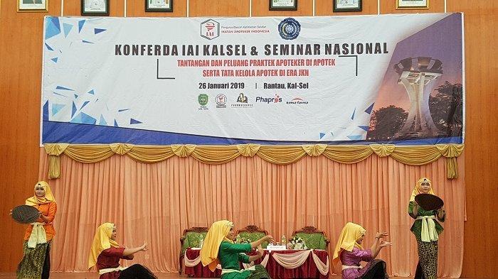 Peserta Konferda Ikatan Apoteker Indonesia Kalsel Dimeriahkan Tarian Kreasi Daerah