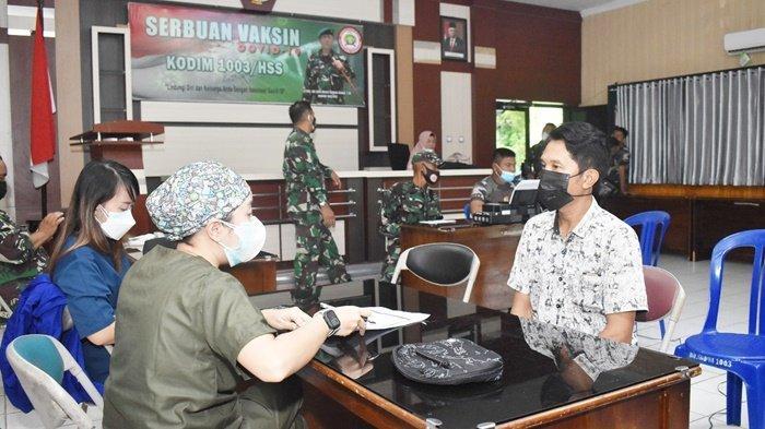Kodim 1003 HSS Kalsel Gencarkan Serbuan Vaksinasi untuk Masyarakat