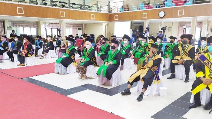 Peserta wisuda di Kampus UIN Antasari, Kota Banjarmasin, Provinsi Kalimantan Selatan (Kalsel), Rabu (15/9/2021).