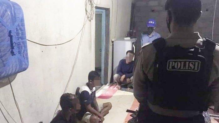 Warga Palangkaraya dan Anggota Ditsamapta Polda Kalteng Ciduk 4 Orang Pesta Sabu