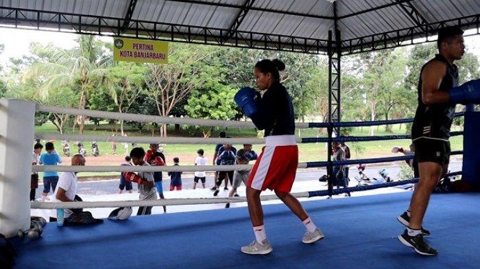 Melaju ke Final, Petinju Putri Kalsel Ini Lolos Seleknas Proyeksi SEA Games Vietnam 2021