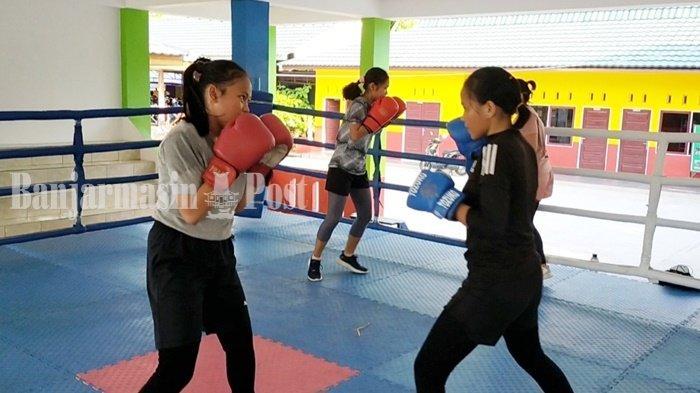 Petinju Putri Banjarmasin Incar Medali di Ajang Popda Kalsel 2021