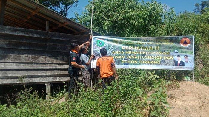 BPBD Waspada Longsor di Kawasan Mentewe Kabupaten Tanah Bumbu Kalimantan Selatan
