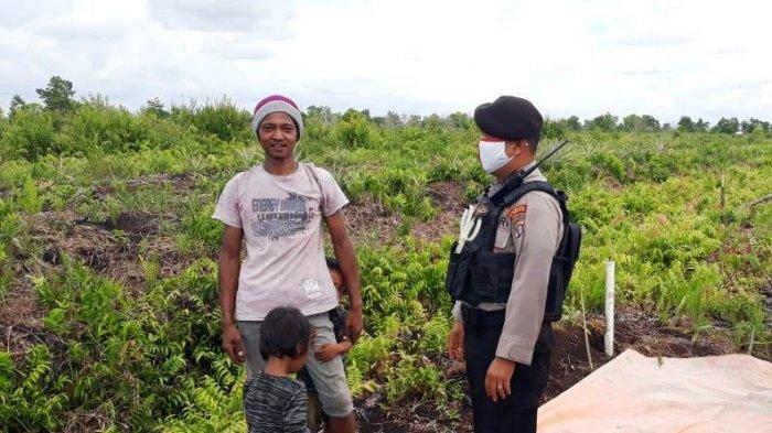 Sosialisasi Cegah Karhutla, Polisi Palangkaraya ini Patroli ke Pinggiran Kota