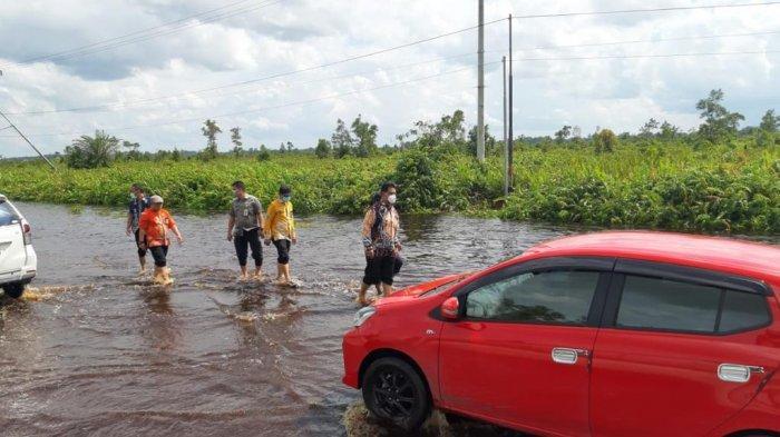 Banjir Bukitrawi Pulangpisau Kalteng Surut, Lalulintas Trans Kalimantan Poros Tengah Lancar