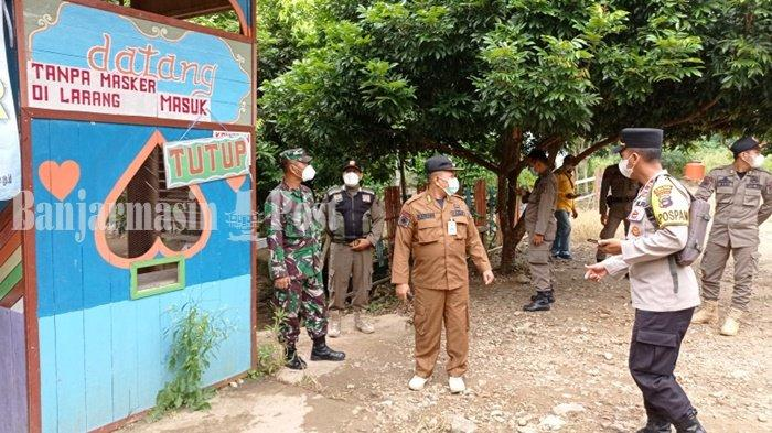 Petugas Sidak Tempat Wisata di Jaro Kabupaten Tabalong, Pastikan Tak Ada yang Buka