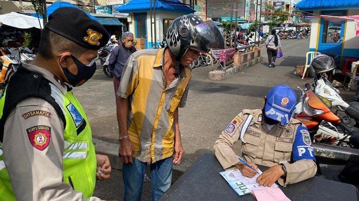 Operasi Yustisi Ditsamapta Polda Kalsel Dapati 309 Warga Abai Protokol Kesehatan