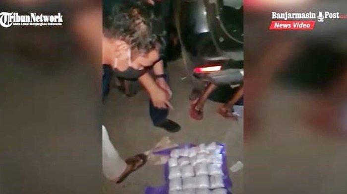 VIDEO Narkoba Kalsel, Polisi Tangkap Pembawa 9 Kg Sabu di Jalan Trans Kalimantan