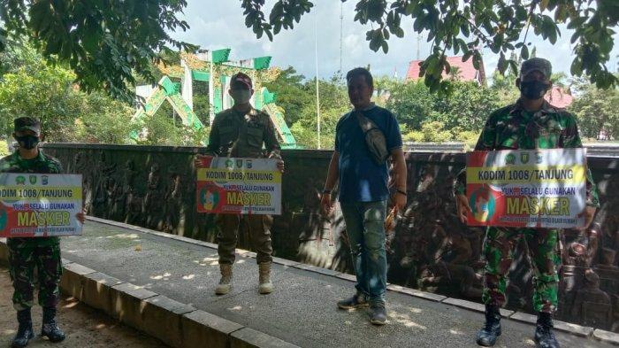 Tak Hanya Pasar, Tim Gabungan Juga Sasar Taman Giat Kota Tanjung Tegakkan Protokol Kesehatan