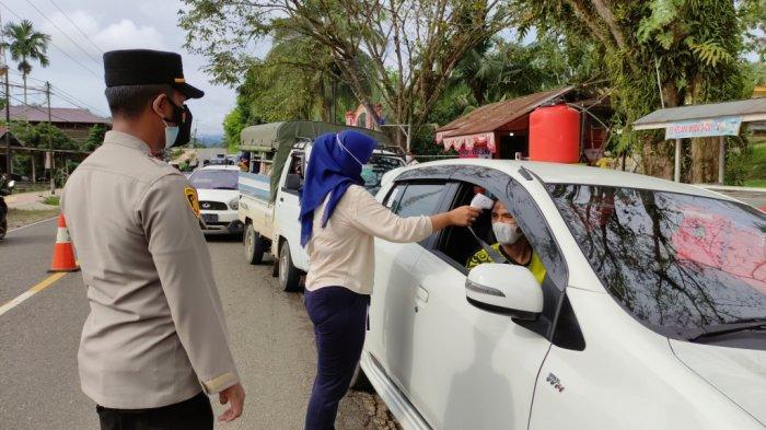Lagi, Petugas Pos Sekat Batas Kalsel-Kaltim di Jaro Tabalong Putar Balik Pengendara