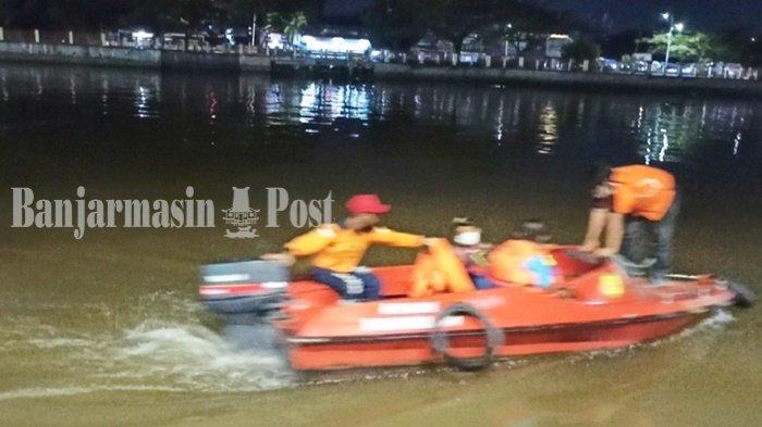 Remaja Tenggelam di Sungai Martapura Banjarmasin, Petugas Gabungan Lakukan Pencarian