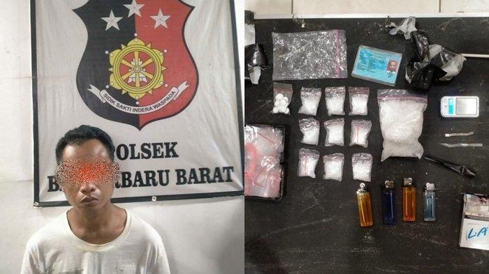 Narkoba Kalsel : Bedakan Digerebek Polisi, Pria Astambul Simpan 143,79 gram Sabu di Saluran  Air