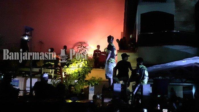 Kebakaran di Banjarmasin, 6 Rumah Hangus di Jalan Cempaka Kelurahan Mawar