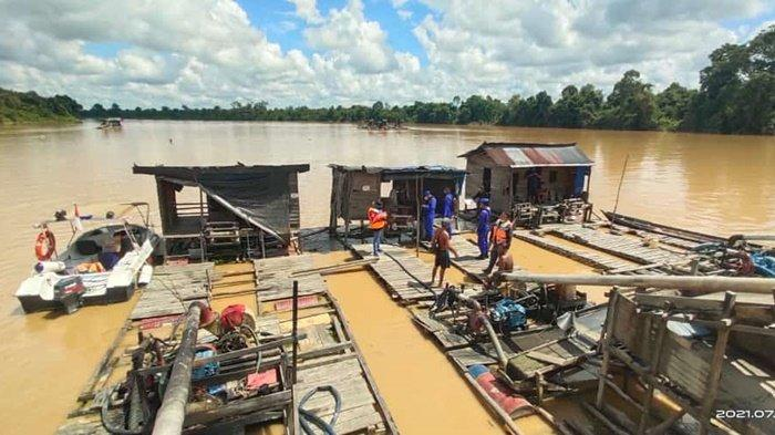 Ditpolairud Polda Kalteng Minta Warga Hentikan Menambang Emas di Sungai Kahayan