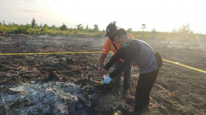 Polisi Selidiki Kebakaran Lahan Seluas Lima Hektare di Jalan Dulin Kandang Palangkaraya
