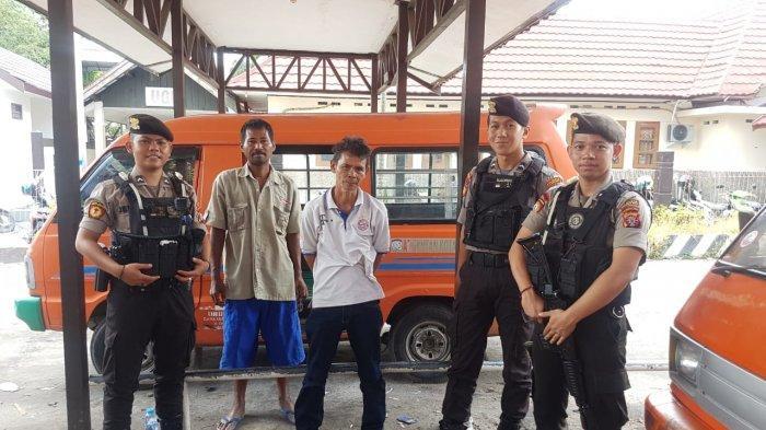 Polisi Palangkaraya Patroli Sembari Sosialisasi Kamtibmas ke Sopir Angkot