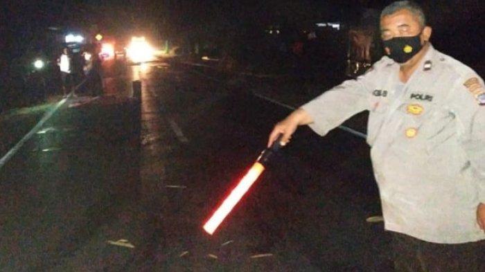 Kecelakaan Kalteng, Jenazah Mengenaskan Tergeletak di Jalan  Arah Palangkaraya - Banjarmasin